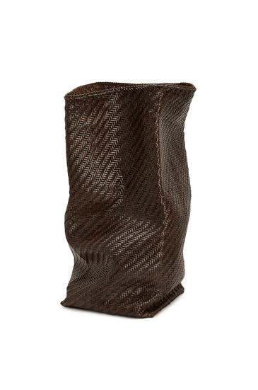 LOEWE Tall Laundry basket in calfskin Chestnut pdp_rd
