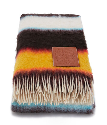 LOEWE 125X180 Mohair Blanket Stripes Multicolor front