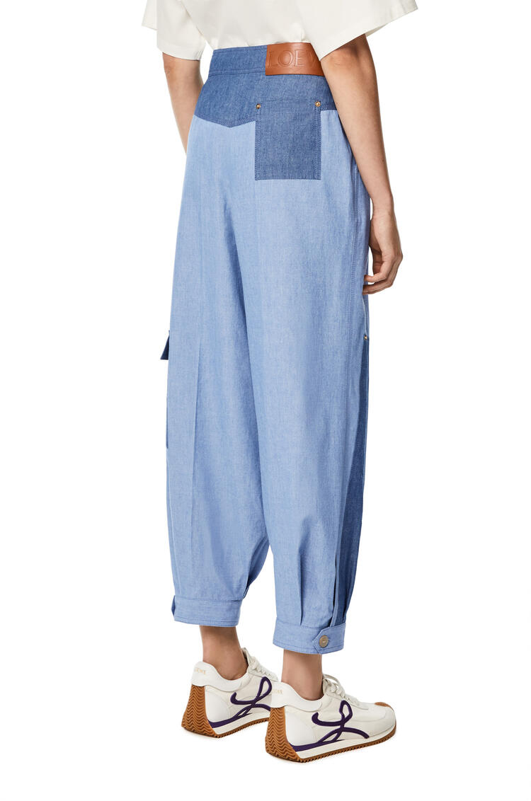 LOEWE Balloon trousers in chambray cotton Blue pdp_rd
