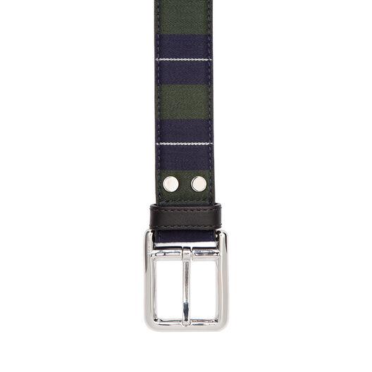 LOEWE Stripe Belt 黑色/海军蓝/金属灰 all