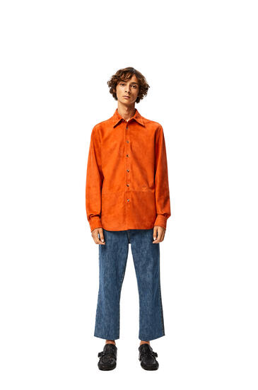 LOEWE Shirt in suede Orange pdp_rd