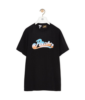 LOEWE T-Shirt In Cotton 黑色 front