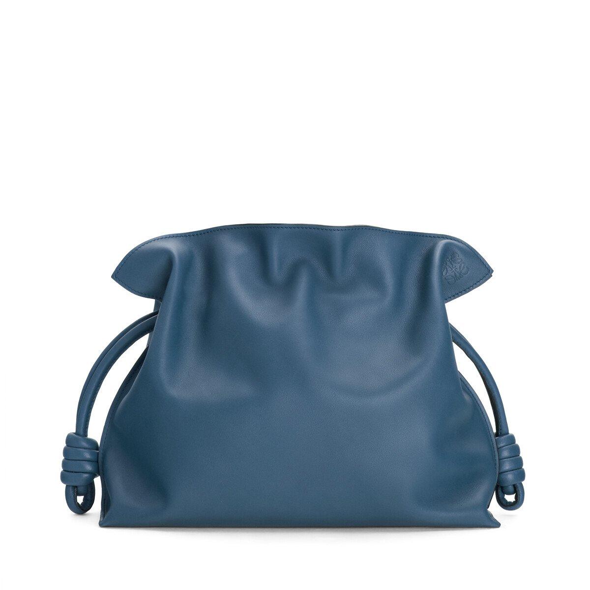 LOEWE Flamenco Clutch Varsity Blue front
