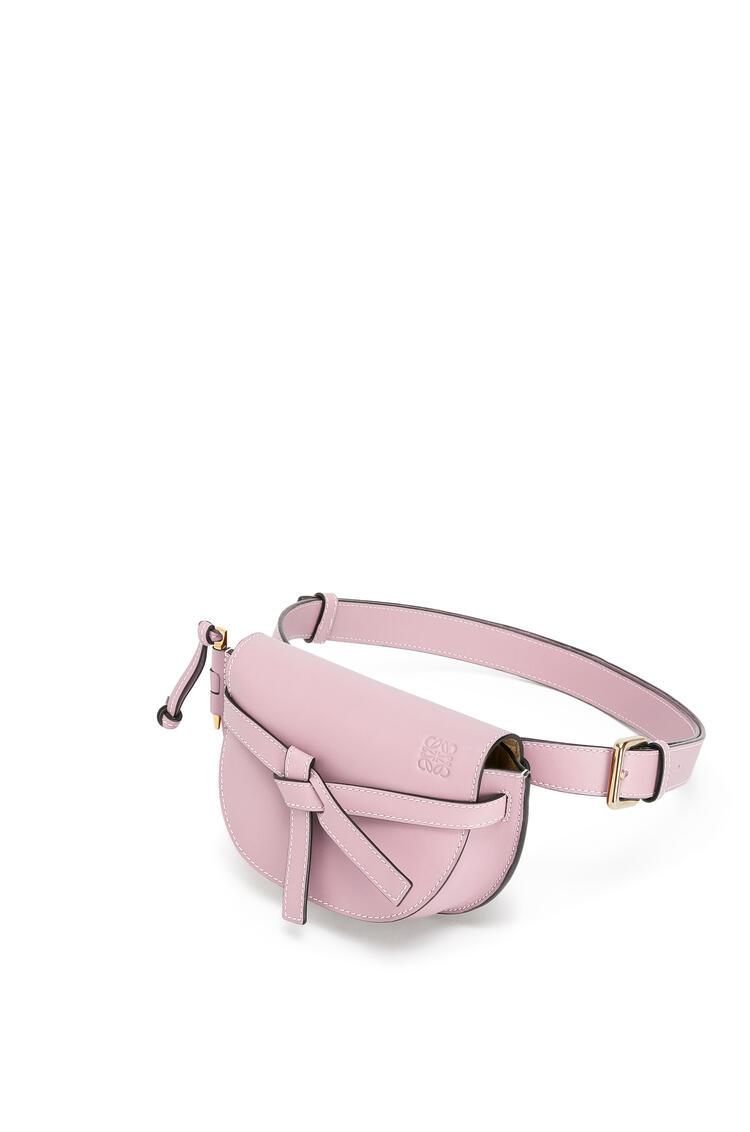 LOEWE Gate Bumbag In Soft Calfskin Pastel Pink pdp_rd
