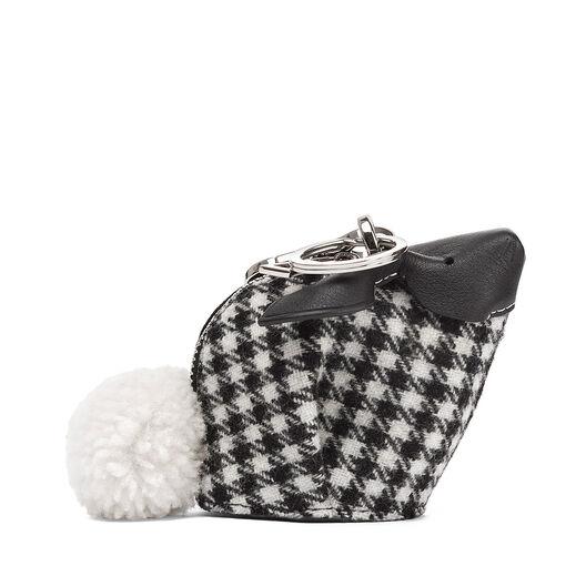 LOEWE Charm Conejo Tweed Negro/Blanco all