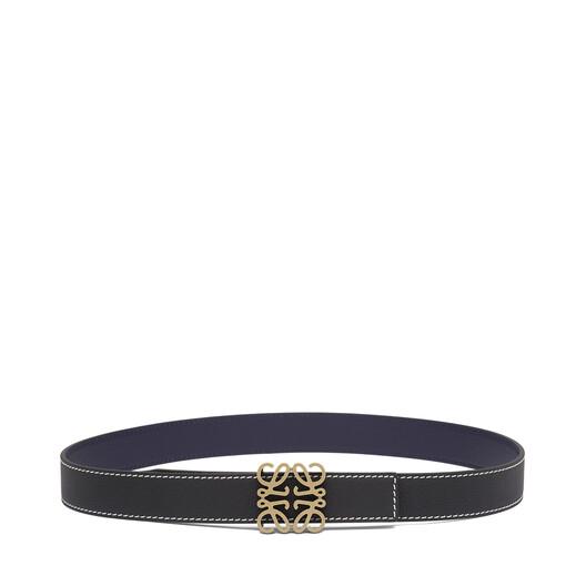 LOEWE Anagram Belt 3.2 Cm Black/Navy/Old Gold front