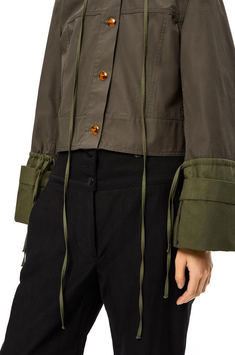 LOEWE Button jacket in cotton Khaki Green pdp_rd