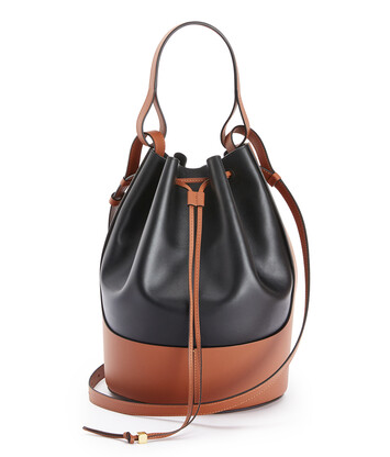LOEWE Balloon Large Bag Black/Tan front