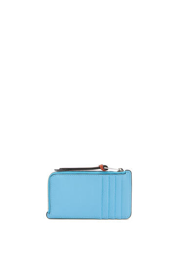 LOEWE Coin Cardholder In Soft Grained Calfskin Sky-blue/Black pdp_rd