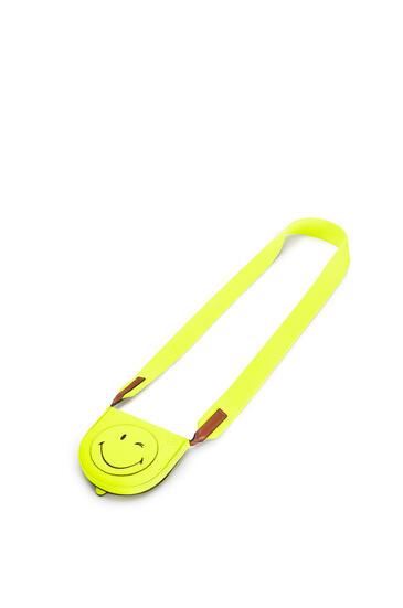 LOEWE スマイリーワールド ヒールポーチ スモール(ソフト カーフスキン) Neon Yellow pdp_rd