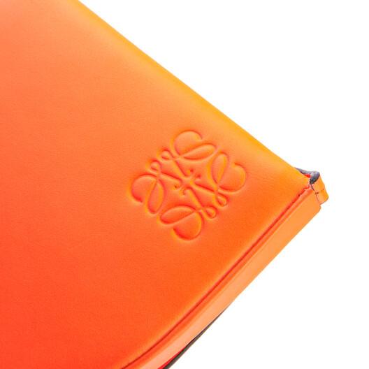 LOEWE Small Heel Pouch In Soft Calfskin Neon Orange front