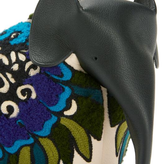LOEWE Elephant Floral Bag Peacock Blue front