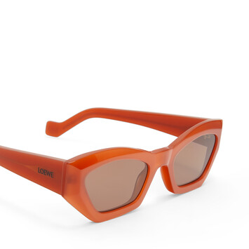 LOEWE Geometric Cateye Sunglasses Rust Color/Brown front