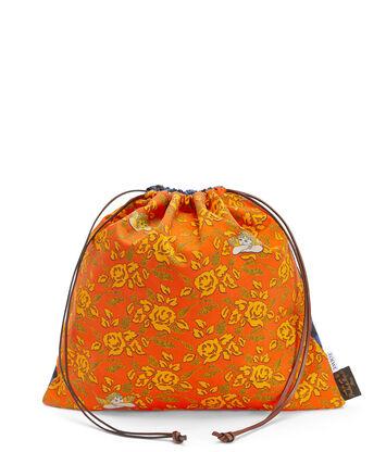 LOEWE Paula Drawstring Pouch L Orange front
