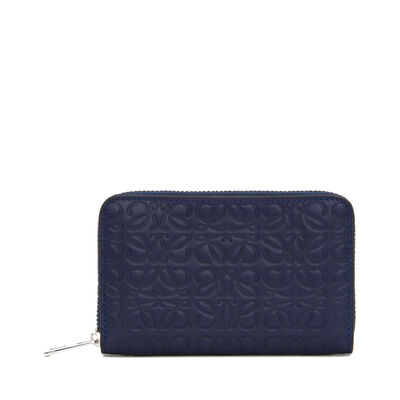 LOEWE Zip Card Holder Navy Blue front