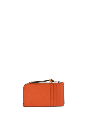 LOEWE Coin cardholder in soft grained calfskin Coral/Soft Apricot pdp_rd