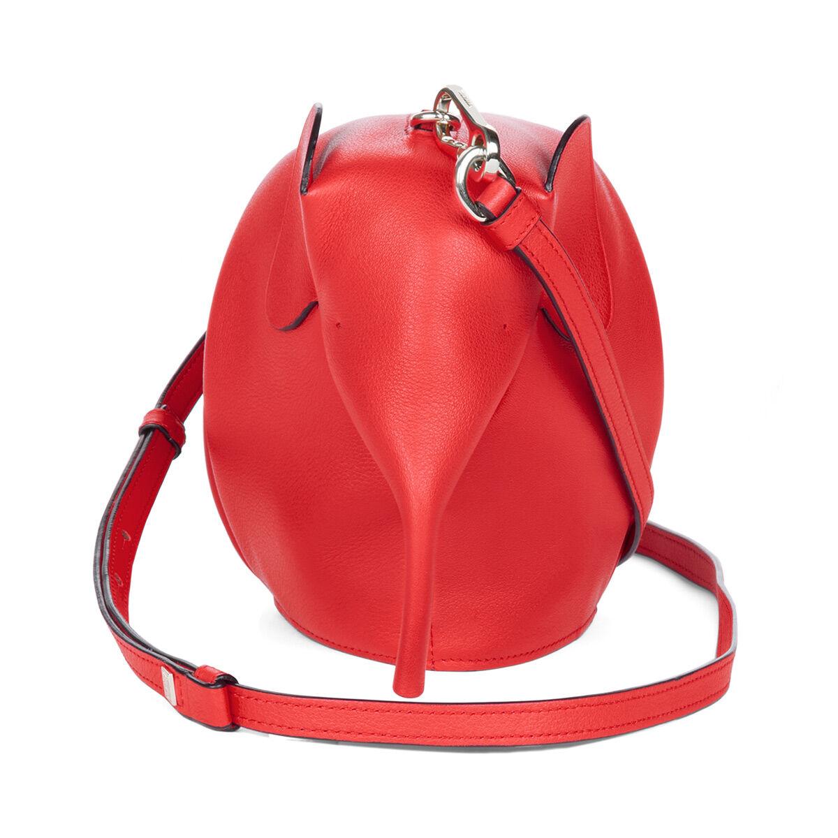 LOEWE Mini Bolso Elefante Rojo Escarlata all