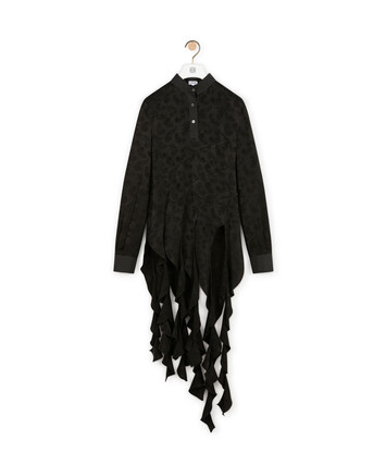LOEWE Curl Top Jacquard Black front