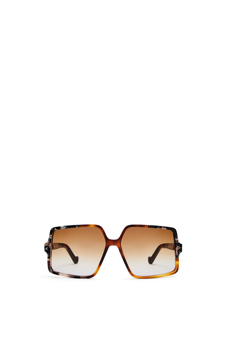 LOEWE Thin acetate pentagon sunglasses Light Havana Patchwork pdp_rd