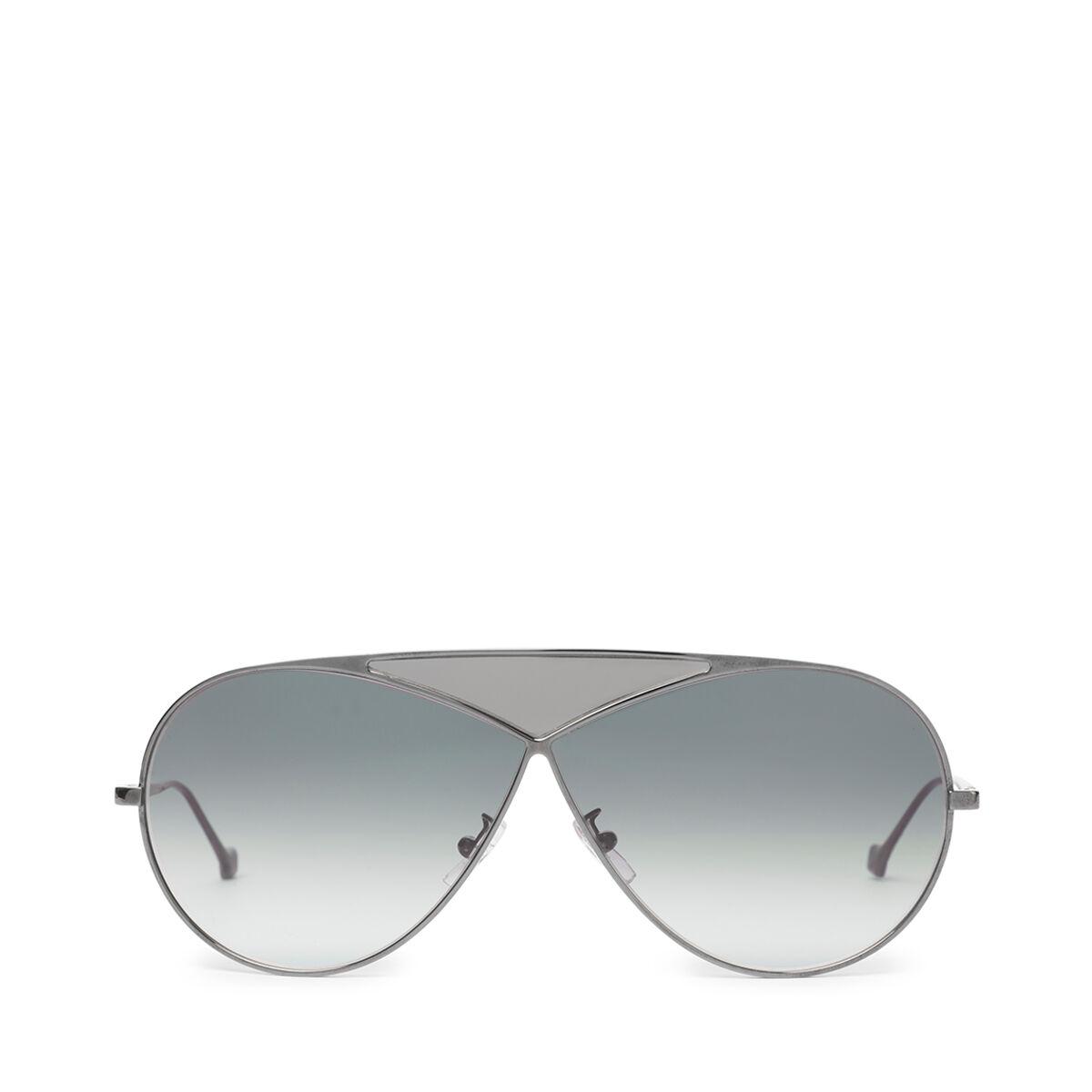 LOEWE Pilot Puzzle Sunglasses Shiny Rhodium/Gradient Smoke all