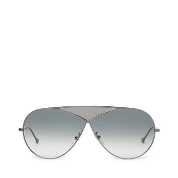 LOEWE Gafas Puzzle Piloto Rodio Brillo/Humo Degradado front