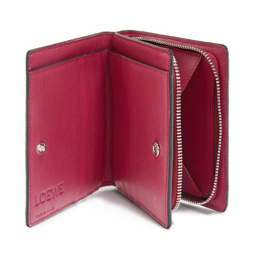 LOEWE Cartera Compact Zip Frambuesa front