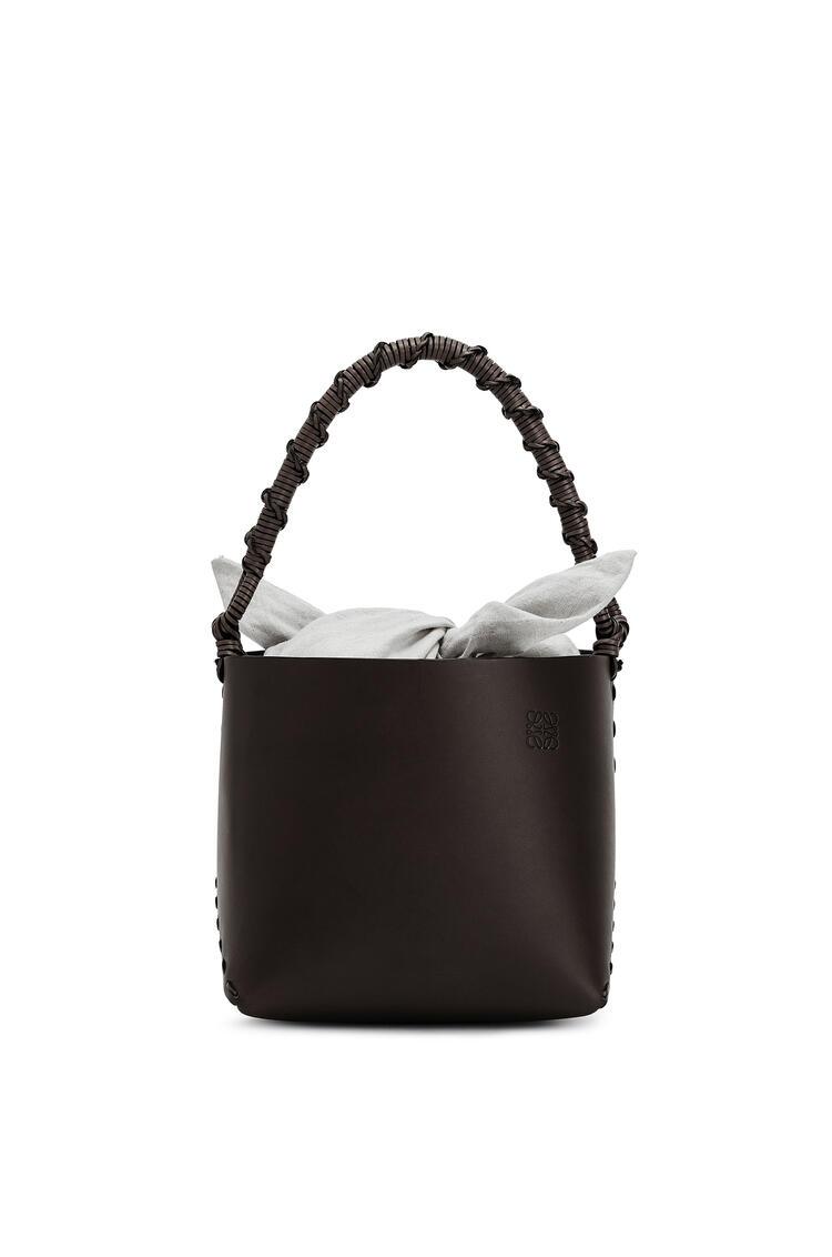 LOEWE Bucket square bag in calfskin Chestnut pdp_rd