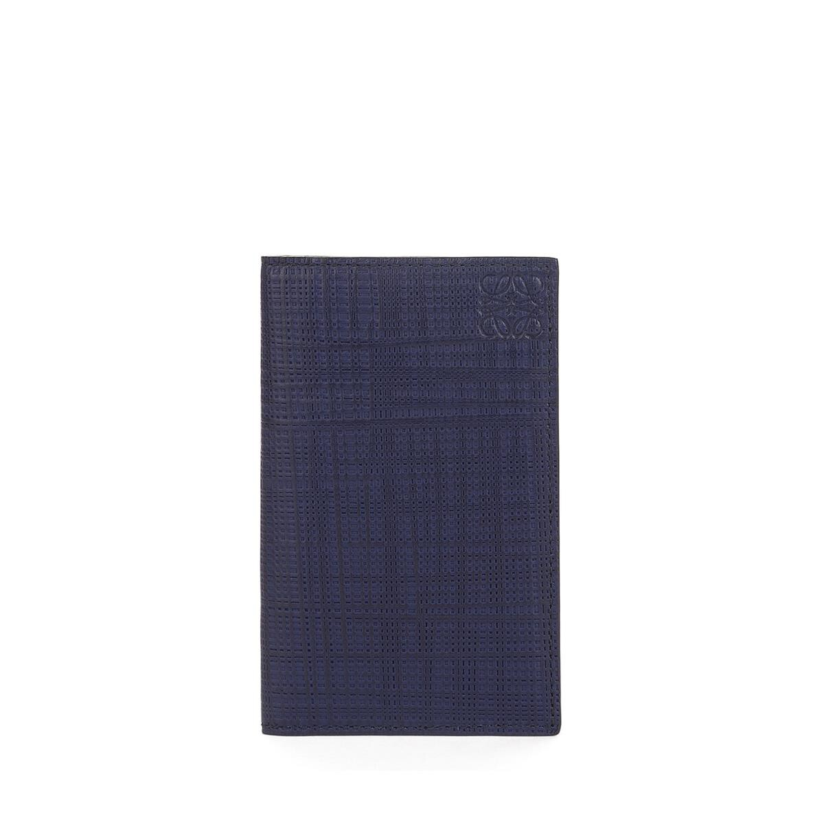 LOEWE Compact Wallet Navy Blue front