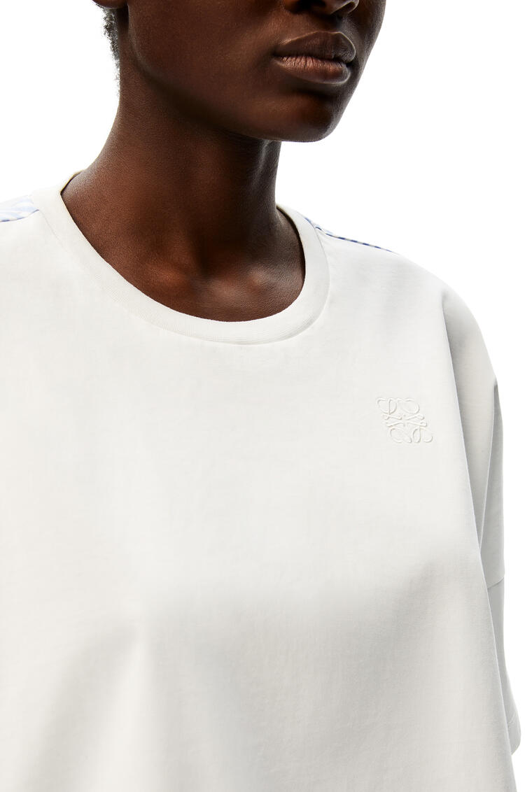 LOEWE Anagram embroidered cropped top in cotton White pdp_rd