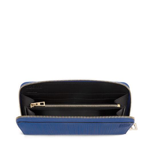 LOEWE Zip Around Wallet Electric Blue front