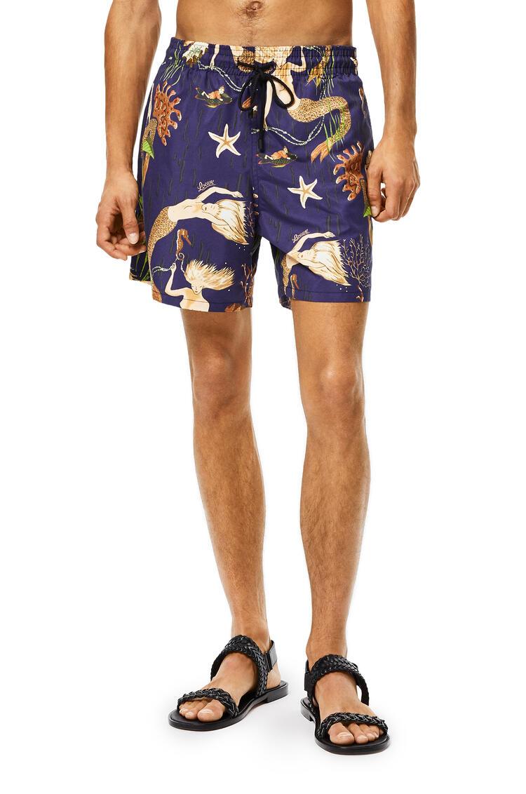 LOEWE Swim shorts in mermaid Navy Blue pdp_rd