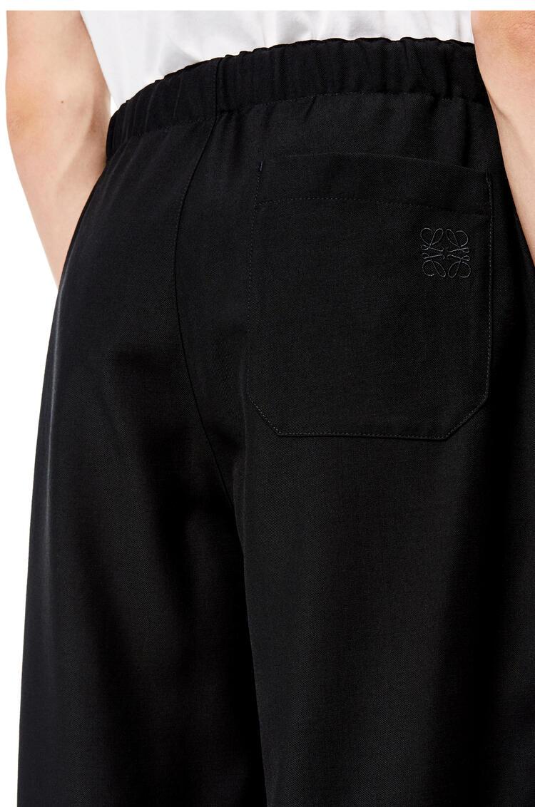 LOEWE 羊毛抽绳长裤 黑色 pdp_rd