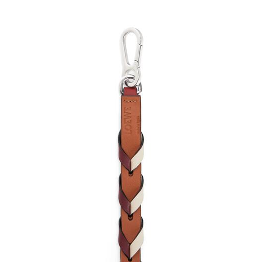 LOEWE Braided Thin Strap Garnet/Ivory front