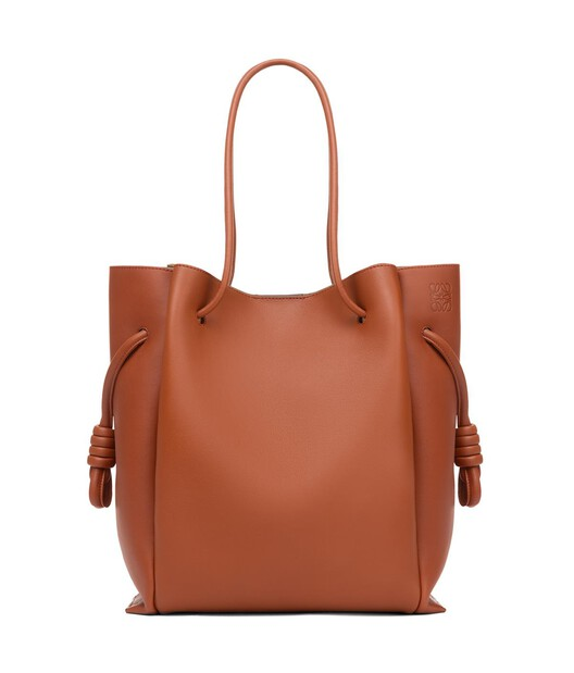 LOEWE Flamenco Knot Tote Rust Color front