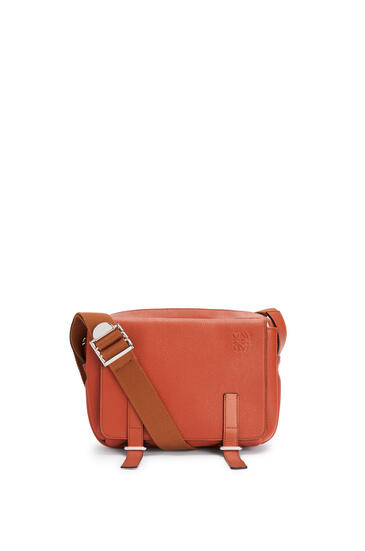 LOEWE XS Military messenger bag in soft grained calfskin Pumpkin pdp_rd