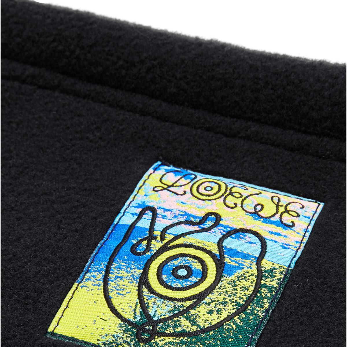 LOEWE Fleece Snood Negro front
