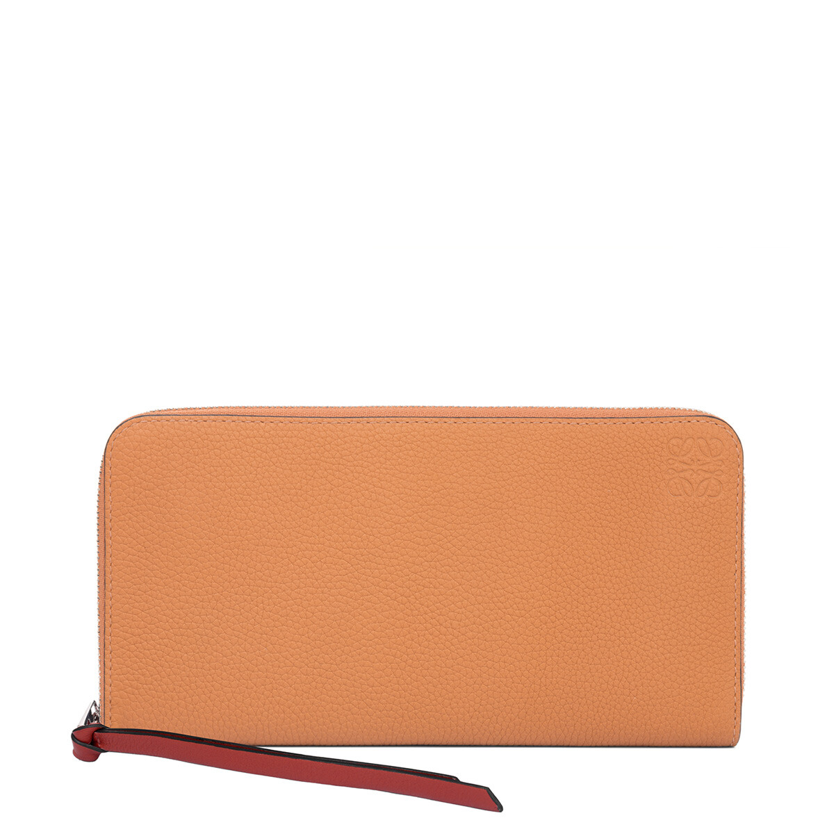 LOEWE Zip Around Wallet Light Caramel/Pecan front