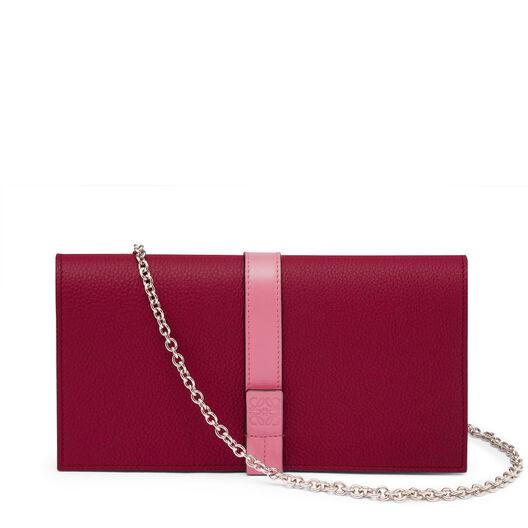 LOEWE Wallet On Chain Wild Rose/Raspberry all