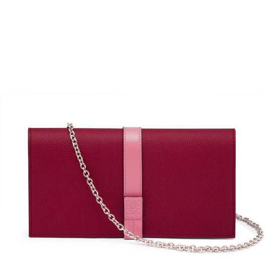 LOEWE Wallet On Chain Wild Rose/Raspberry front