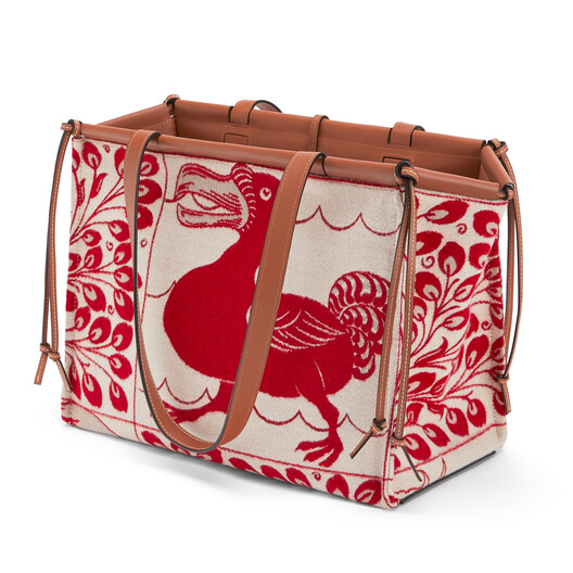 LOEWE Cushion Tiles Bag Red front