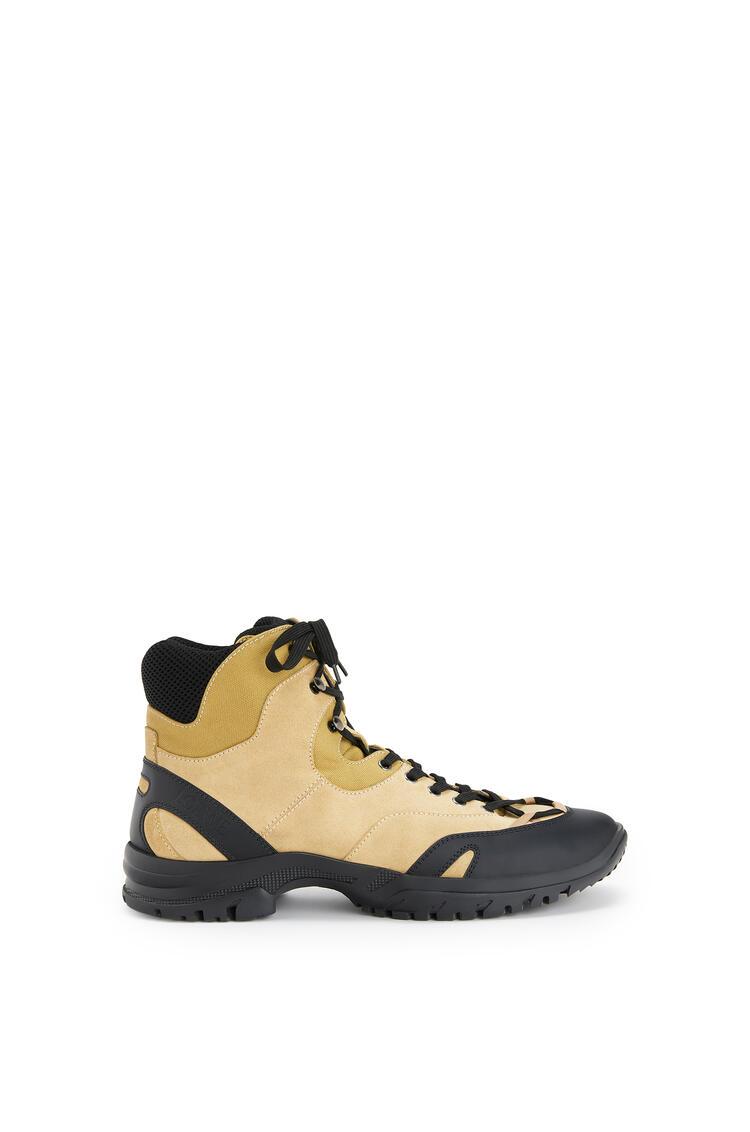 LOEWE Hiking boot in split calfskin Mustard pdp_rd