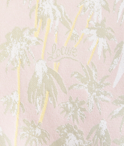 LOEWE Daisy Jacquard Ov Cardigan Pink/Light Green front