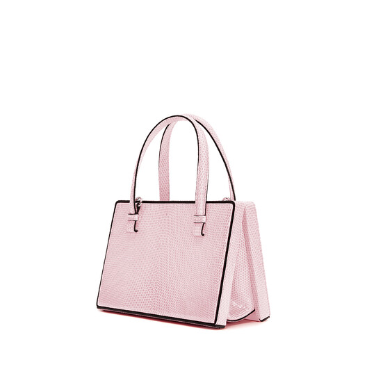 LOEWE 小号Postal手袋 Icy Pink front