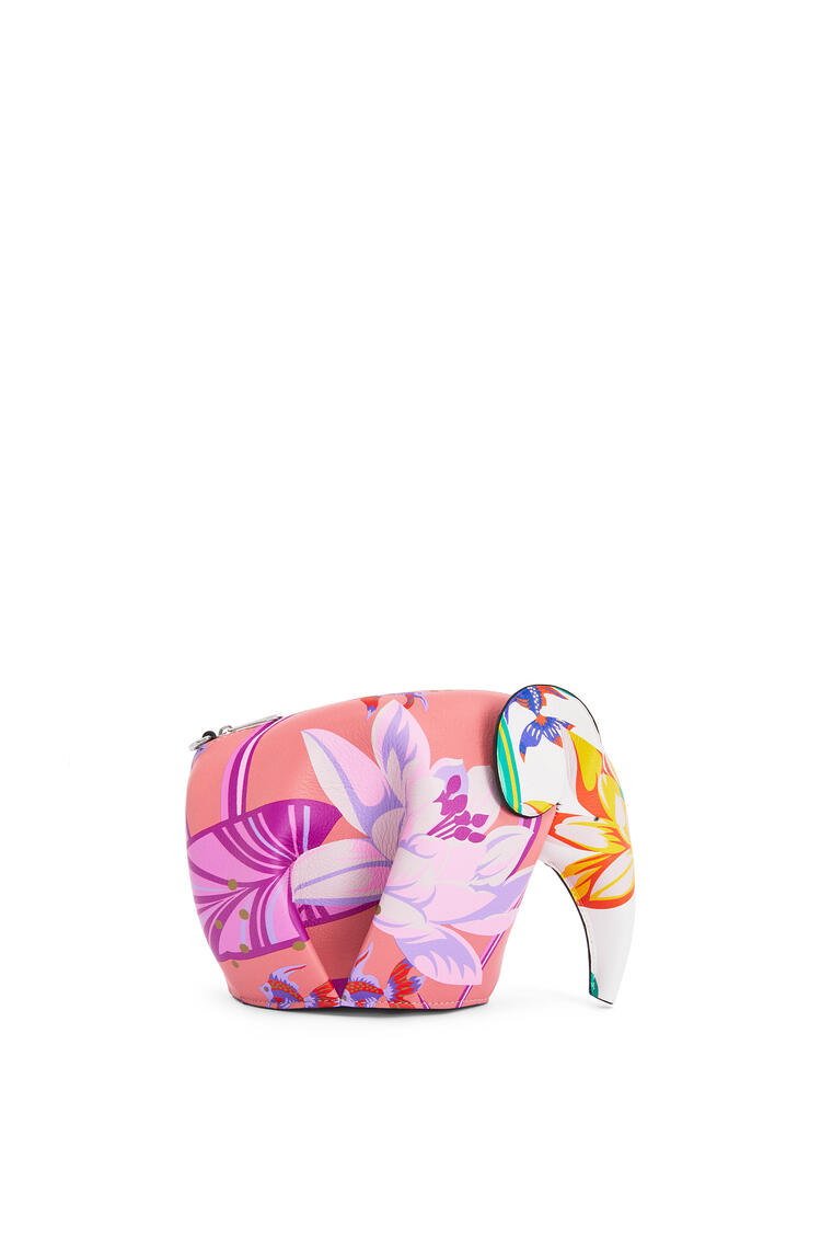 LOEWE Mini Elephant Bag In Waterlily Classic Calfskin Pink/White pdp_rd
