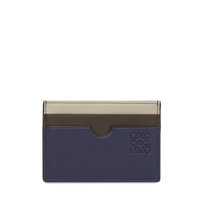 LOEWE Plain Card Holder Blue/Multicolor front