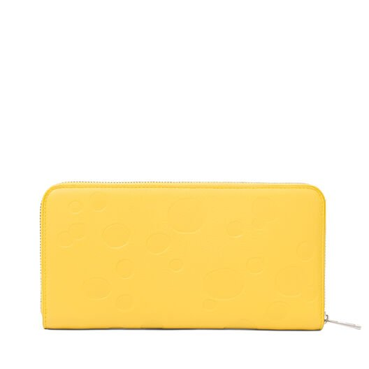LOEWE Billetero C/Cremallera Queso Amarillo/Paladio all