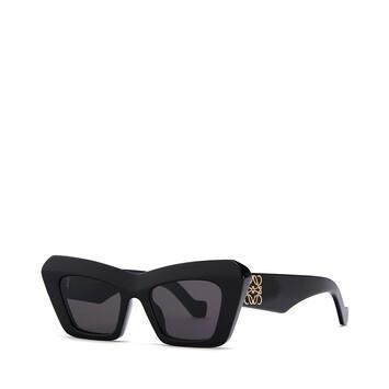 LOEWE Acetate Cateye Sunglasses 黑色 front