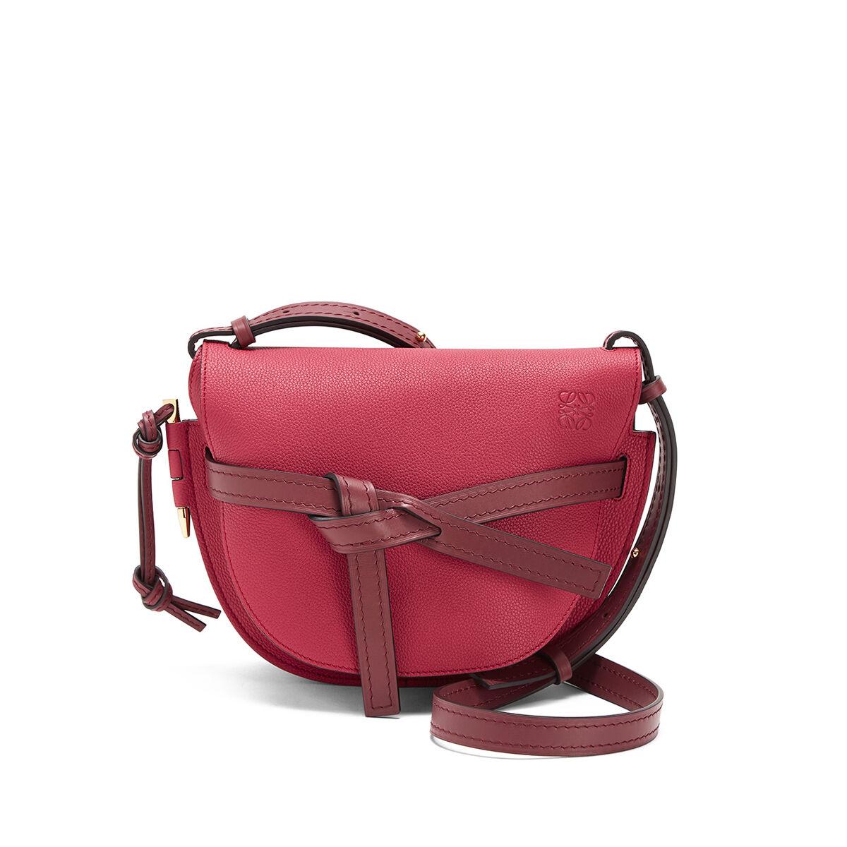 LOEWE Gate Small Bag Raspberry/Wine all