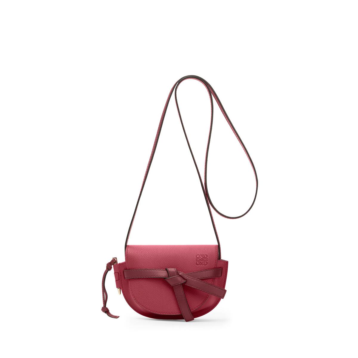 LOEWE Gate Mini Bag Raspberry/Wine front