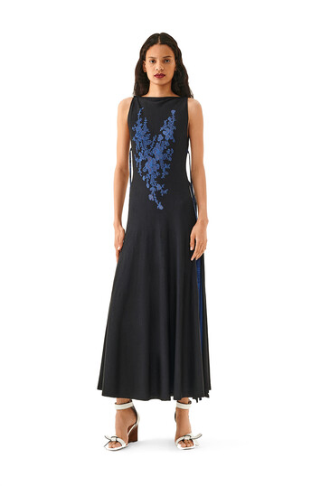 LOEWE Lace Knit Dress Negro front